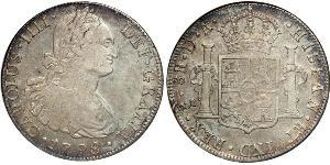 8 Real Chile Silver Charles IV of Spain (1748-1819)