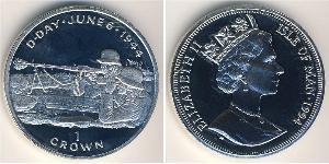 1 Крона Остров Мэн Серебро Елизавета II (1926-)