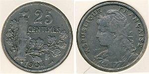 25 Sent French Third Republic (1870-1940)  Nickel