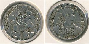10 Сентаво Французский Индокитай (1887-1954) Никель