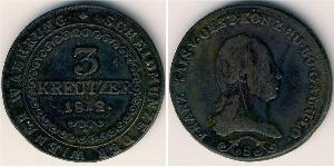 3 Kreuzer Impero austriaco (1804-1867) Rame Francis II, Holy Roman Emperor (1768 - 1835)