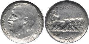50 Centesimo Kingdom of Italy (1861-1946) Nickel Viktor Emanuel III. (Italien) (1869 - 1947)