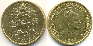 10 Krone Dänemark Bronze/Aluminium