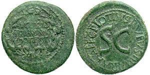 1 Dupondius Roman Empire (27BC-395) Bronze Augustus (63BC- 14)
