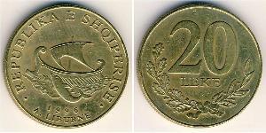 20 Lek Albanien Messing