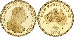 5 Shilling Australia (1788 - 1939) Oro Jorge III (1738-1820)