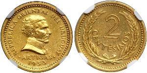 2 Centesimo Uruguay Gold José Gervasio Artigas