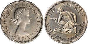 1 Shilling Nouvelle-Zélande Cuivre/Nickel Elizabeth II (1926-)