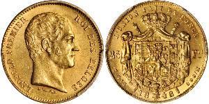 20 Franc Belgium Gold Leopold I of Belgium (1790-1865)