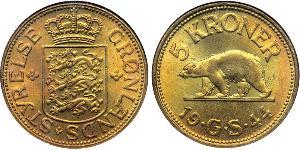5 Krone Groenlandia Ottone