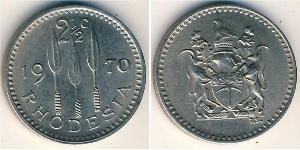2.5 Цент Родезия (1965 - 1979) Медь/Никель