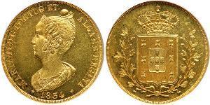 4 Ескудо Королівство Португалія (1139-1910) Золото Мария II королева Португалії (1819-1853)