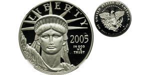 10 Dólar Estados Unidos de América (1776 - ) Platino