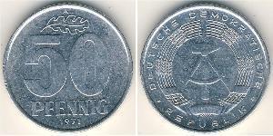 50 Pfennig República Democrática Alemana (1949-1990) Aluminio