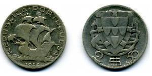 2,5 Escudo Portuguese Republic - Ditadura Nacional (1926 - 1933) Argento
