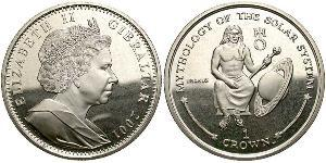 1 Crown Gibraltar Copper/Nickel Elizabeth II (1926-)