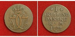 1 Skilling Denmark Copper
