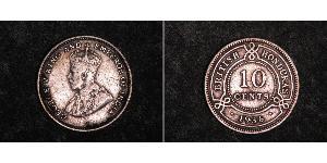 10 Цент Британский Гондурас (1862-1981) Срібло Георг V (1865-1936)