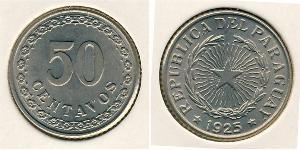 50 Centavo Paraguay (1811 - ) Níquel/Cobre