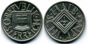 1/2 Шилінг Перша Австрійська Республіка (1918-1934) Срібло