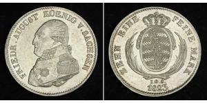1 Thaler Kingdom of Saxony (1806 - 1918) Silver Frederick Augustus I of Saxony