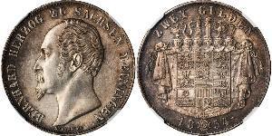 2 Gulden Herzogtum Sachsen-Meiningen (1680 - 1918) Silber Bernhard II. (Sachsen-Meiningen)