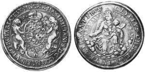 1 Талер Баварія (герцогство) (907 - 1623) Срібло
