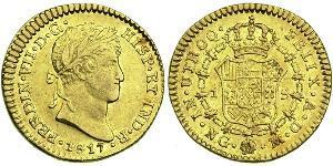1 Escudo Guatemala Oro Ferdinando VII di Spagna (1784-1833)