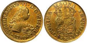 4 Escudo Chile Oro Fernando VI de España (1713-1759)
