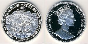 1 Krone Isle of Man Silver