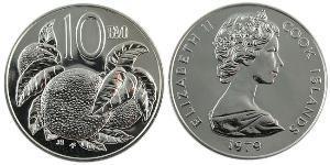10 Cent Cookinseln Kupfer/Nickel Elizabeth II (1926-)