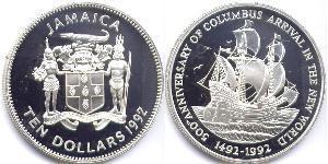 10 Dólar Jamaica (1962 - )