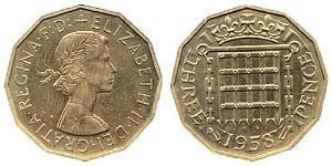 3 Threepence Великобритания (1922-) Никель/Латунь Елизавета II (1926-)