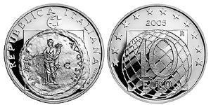 10 Euro Italia Argento