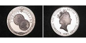 20 Dollar 维尔京群岛 銀 伊丽莎白二世 (1926-)