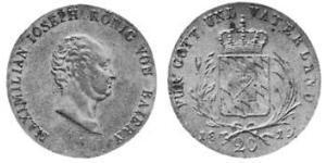 20 Крейцер Королевство Бавария (1806 - 1918) Серебро