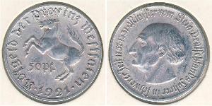 50 Pfennig Germany Aluminium
