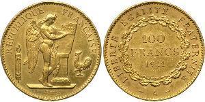 100 Франк Перша Французька республіка  (1792-1804) Золото