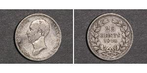 25 Cent Kingdom of the Netherlands (1815 - ) Silver William II of the Netherlands (1792 - 1849)