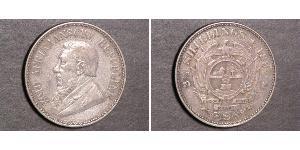 1/2 Shilling South Africa Silver Paul Kruger (1825 - 1904)