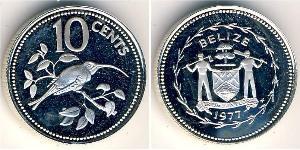 10 Цент Беліз (1981 - ) Нікель/Мідь