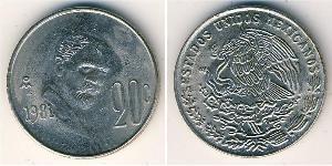 20 Centavo United Mexican States (1867 - ) Copper/Nickel