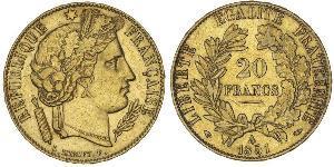 20 Franc Zweite Französische Republik (1848-1852) Gold