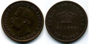 1/4 Tanga Portuguese India (1510-1961) Copper