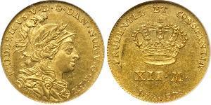 12 Mark Royaume du Danemark et de Norvège (1536-1814) Or Frédéric V de Danemark (1723 - 1766)