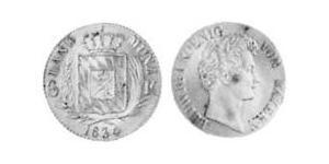 6 Kreuzer Reino de Baviera (1806 - 1918) Plata Luis I de Baviera(1786 – 1868)