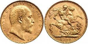 1 Sovereign 澳大利亚 金 爱德华七世 (1841-1910)