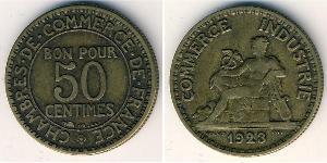 50 Sent Frankreich Bronze