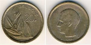 20 Franc Bélgica Níquel/Bronce