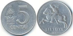 5 Cent 立陶宛 铝
